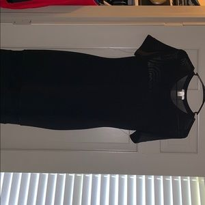 Bozzolo Dresses - LBD with mesh paneling